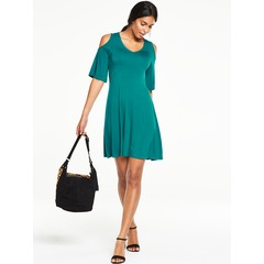 V By Very Cold Shoulder Tea Dress
