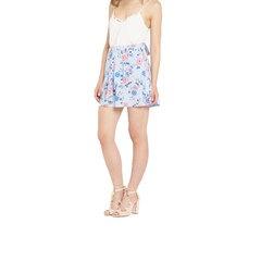 Miss Selfridge Petite Floral Wrap Flippy Skirt