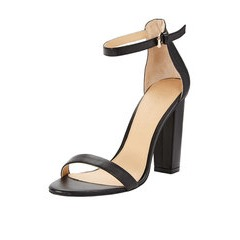 Shoe Box High Block Heel Ankle Strap Sandals