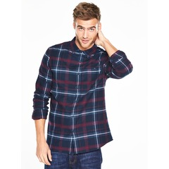 V by Very Long Sleeve Scale Brushed Check Shirt