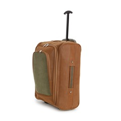 Travel Shop Suede Leather Look Cabin Trolley Bag