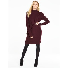 V By Very Oversized Frill Chunky Knit Dress