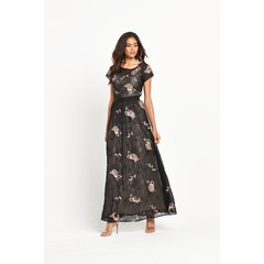 Miss Selfridge Lace And Floral Embellished Maxi Dress