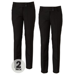 Top Class Girls Pack of 2 Pull On Embellished Trousers