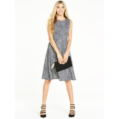 V By Very Fit And Flare Printed Midi Dress