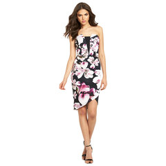 Lipsy Floral Asymmetric Bandeau Dress