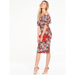 V by Very Off The Shoulder Midi Jersey Dress