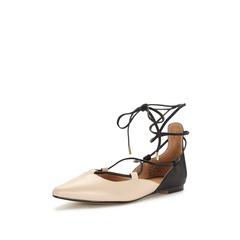 KG Larissa Ghillie Tie Pointed Flat Shoes