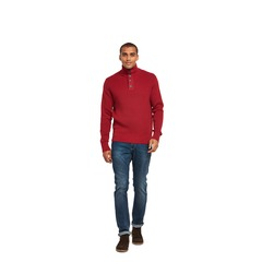 Tommy Hilfiger Taylor Button Neck Knit Jumper