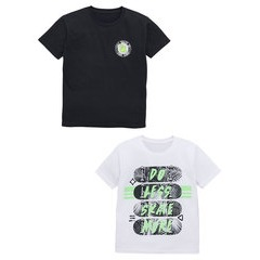 V By Very Do Less Skate More 2 Pack Tees