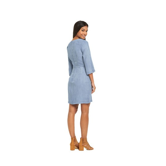 Warehouse Clean Fit Flare Sleeved Mini Dress