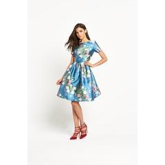 Chi Chi London Prom Floral Midi Skater Dress