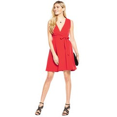 V By Very Wrap Fit And Flare Dress