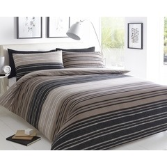 Textured Stripe Duvet Set - Kingsize