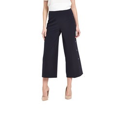 V By Very Button Side Crop Trousers