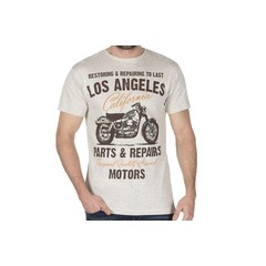Cargo Bay Los Angeles Motorcycle Print T-shirt