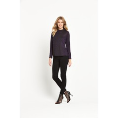 V By Very Metallic Jersey Turtle Neck Top