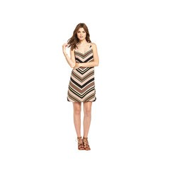 Oasis V-Neck Chevron Stripe Cami Mini Dress