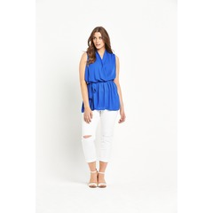 So Fabulous! Belted Wrap Tunic Blouse