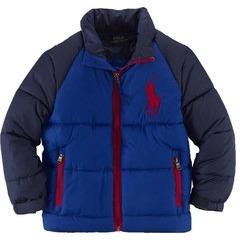Ralph Lauren Boys Padded Colour Block Jacket