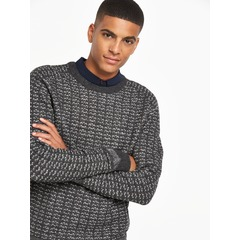 Selected Homme Pattern Crew Neck Jumper