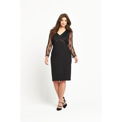V By Very Lace Sleeve Beaded Top Dress