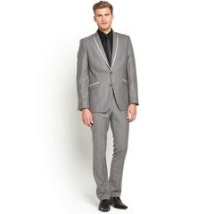 Taylor & Reece Grey Lapel Single Breasted Mens Suit Jacket Slim Fit