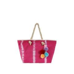 V By Very Tie-Dye Pom Pom Tassel Beach Bag