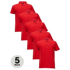 Top Class Boys Pack Of Five Polo Tops