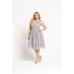 Chi Chi London V Neck Lace Dress