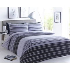 Textured Stripe Duvet Set - Double