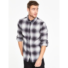 V by Very Long Sleeved Shadow Check Shirt
