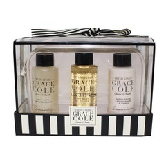 Grace Cole Fresh Linen 4 Piece Bath Travel Set