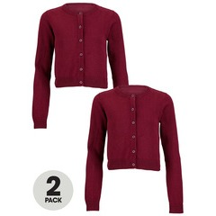 Top Class Girls Pack Of Two Essential Cotton Cardigan