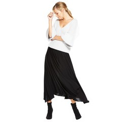 Warehouse Crepe Hanky Hem Skirt