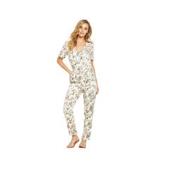 V By Very Floral Print Zip Detail Jumpsuit