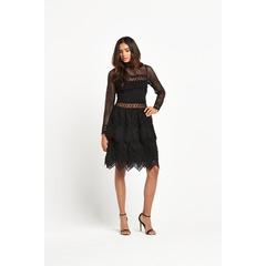 Miss Selfridge Mixed Lace Long Sleeve Dress