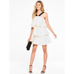 V By Very Ruffle Neck Contrast Dress