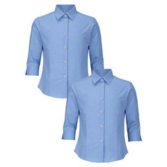 Top Class Girls 2 Pack of 3/4 Sleeve Blouses
