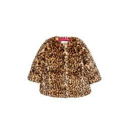 Ladybird Toddler Girls Fashion Leopard Fur Coat