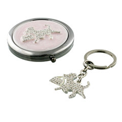 Pretty in Pink Dog Compact Key Ring Set