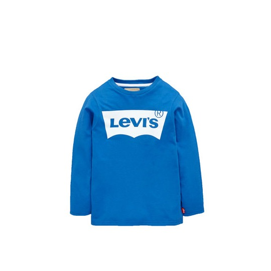 Levi Boys Long Sleeved Logo Front Top
