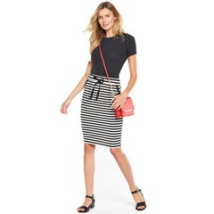 V By Very Drawstring Jersey Skirt