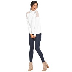 V By Very Lace Shoulder Overlay Roll Neck Jumper