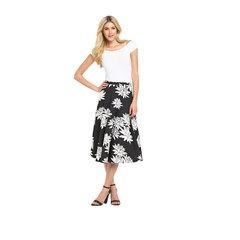 Definitions Mono Print Full Skirt