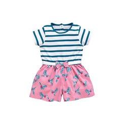 Ladybird Girls Stripe And Bird Playsuit
