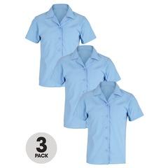 Top Class Girls Pack of 3 School Short sleeve Blouses