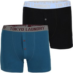 Tokyo Laundry Pack of Two Farren Boxer Shorts Set
