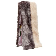 Ted Baker Colour Block Faux Fur Scarf