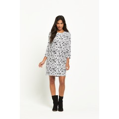 Warehouse Daisy Print Long sleeve Dress
